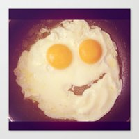 Smiley Egg Canvas Print