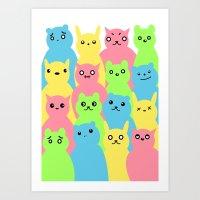 Animal Friends Art Print