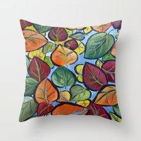 Autumn Painting Throw Pillow