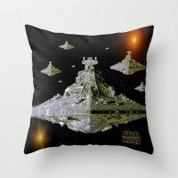 Galactic Battle Cruisers  Throw Pillow
