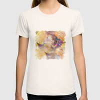 Profile Woman And Flower… Womens Fitted Tee Natural SMALL