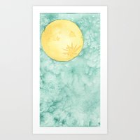When The Moon Hits Your … Art Print
