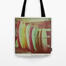 Surfboards in San Francisco Tote Bag
