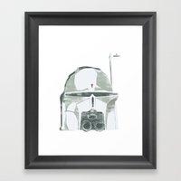 Ralph McQuarrie concept Boba Fett Framed Art Print