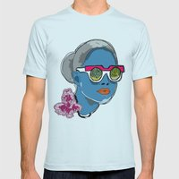 SHADES  Mens Fitted Tee Light Blue SMALL