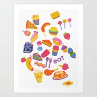 food Art Prints featuring Food by melissa chaib