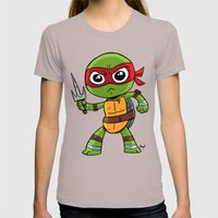 TMNT Raphael Womens Fitted Tee Cinder SMALL