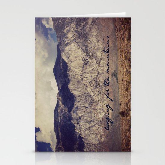 longing for the mountains Stationery Card