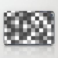 Colour Block Black and White iPad Case