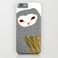 Barn owl, owl art, owl illustration, owls, nature, animal art,  iPhone 6 Slim Case