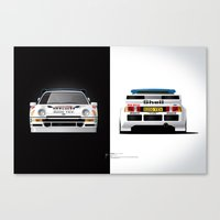 Group B Edition, N.º4, Ford RS200 Canvas Print