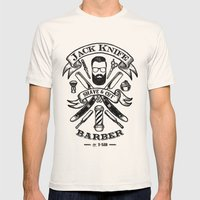 Jack Knife Mens Fitted Tee Natural SMALL