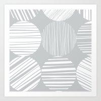 MIDCENTURY CIRCLES Art Print