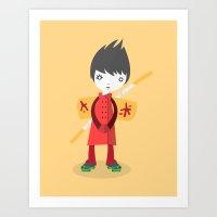 Little Ninja Art Print