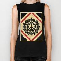Peace Mandala Biker Tank