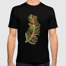 Feather SMALL Mens Fitted Tee Black
