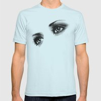 Eyes Windows To the Soul Mens Fitted Tee Light Blue SMALL