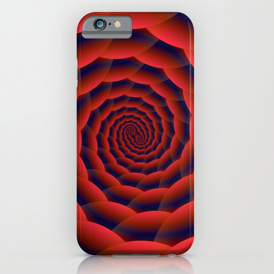 Red and Blue Spiral iPhone & iPod Case