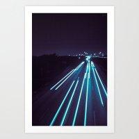 75(glow) Art Print