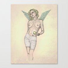 Pondering Angel Canvas Print