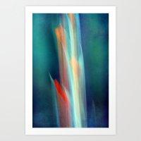 Abstract Gladiolus #1 Art Print