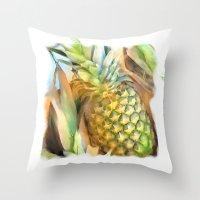 Fresh Pineapples Throw Pillow