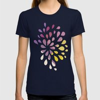 Dark Drops Womens Fitted Tee Navy SMALL