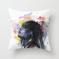 The Layers Within Throw Pillow