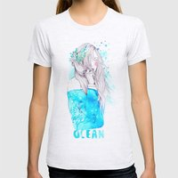 Ocean Womens Fitted Tee Ash Grey SMALL