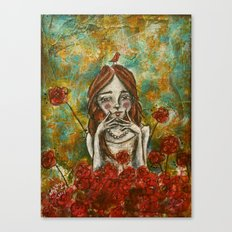 The smallest of souls, the largest of thoughts Canvas Print