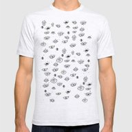 ALL EYES ON ME Mens Fitted Tee Ash Grey SMALL