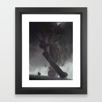 the Third Colossus Framed Art Print