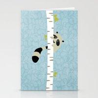A shy raccoon Stationery Cards