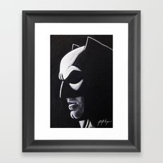 DARK HERO WATCHING Framed Art Print