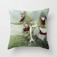 3 Lurkers  Throw Pillow