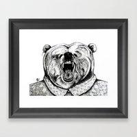 He was like a bear! Framed Art Print