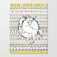 Unicorn Party Canvas Print