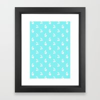 Blue cherries Framed Art Print