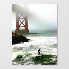 Surfing SF Bay Canvas Print