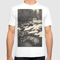 pines Mens Fitted Tee White SMALL