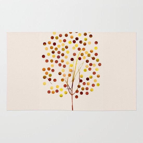 Tree of Life_Amber by Jacqueline and Garima Area & Throw Rug