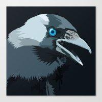 Corvus monedula has a stinking attitude Canvas Print