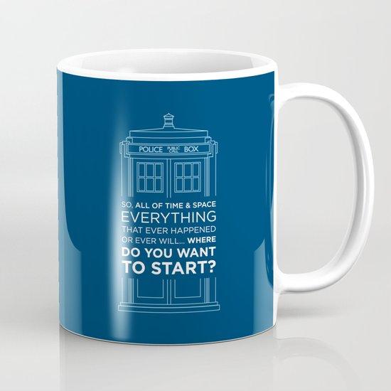 Doctor Who - TARDIS Where Do You Want to Start Mug