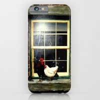 Roosters on a ledge  iPhone 6 Slim Case