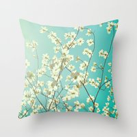 The Dogwoods Are Bloomin… Throw Pillow