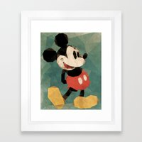 Mr. Mickey Mouse Framed Art Print