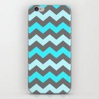 Blue Zigzag iPhone & iPod Skin