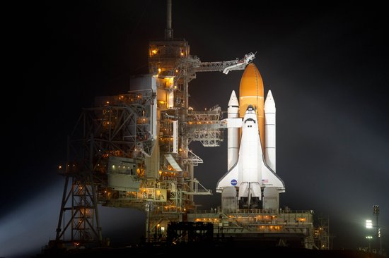 Space Shuttle Discovery is Prepared for Launch Art Print
