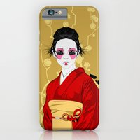 iPhone & iPod Case featuring Geisha R by CranioDsgn