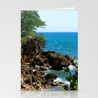 Near the lighthouse @ Rincon Stationery Cards